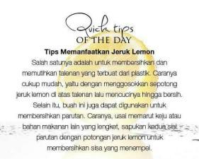 Macam-Macam Tips Bermanfaat Keseharian (1)