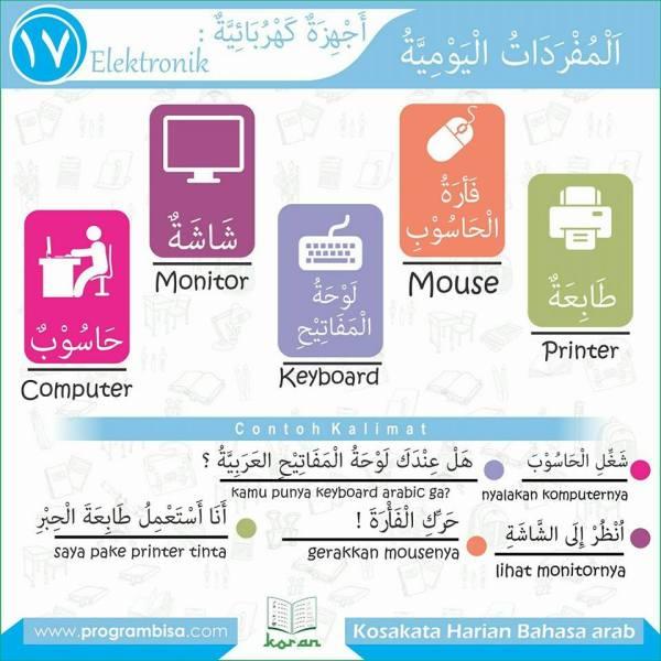 kosa kata harian bahasa arab 17
