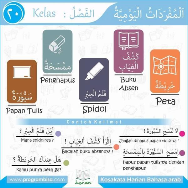 kosa kata harian bahasa arab 20
