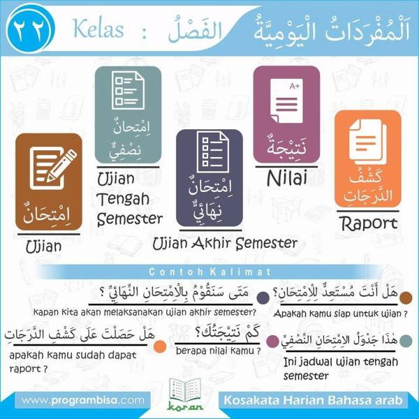 kosa kata harian bahasa arab 22