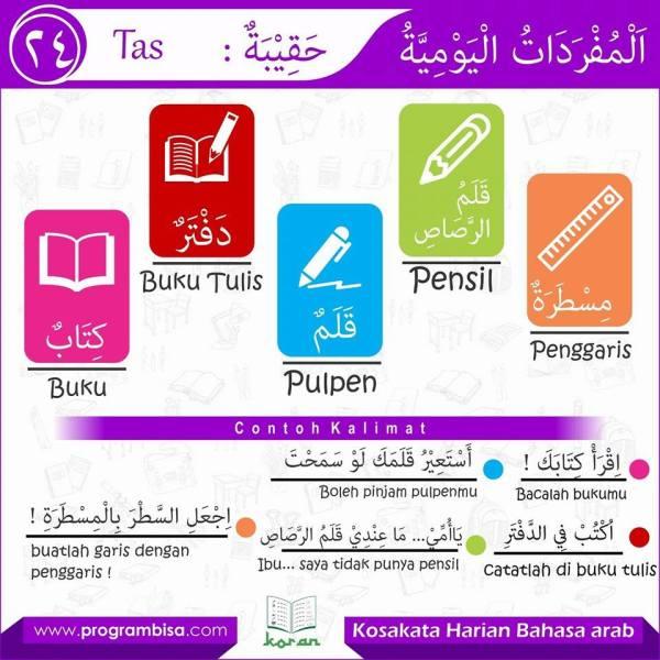 kosa kata harian bahasa arab 24