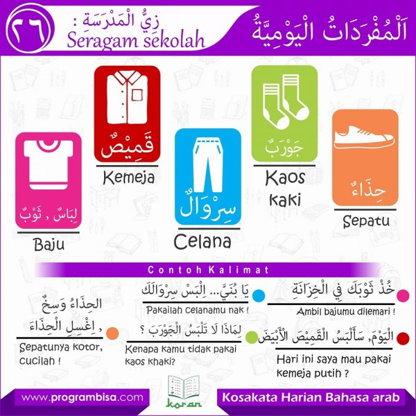 kosa kata harian bahasa arab 26