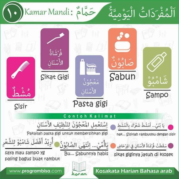 kosa kata harian bahasa arab10