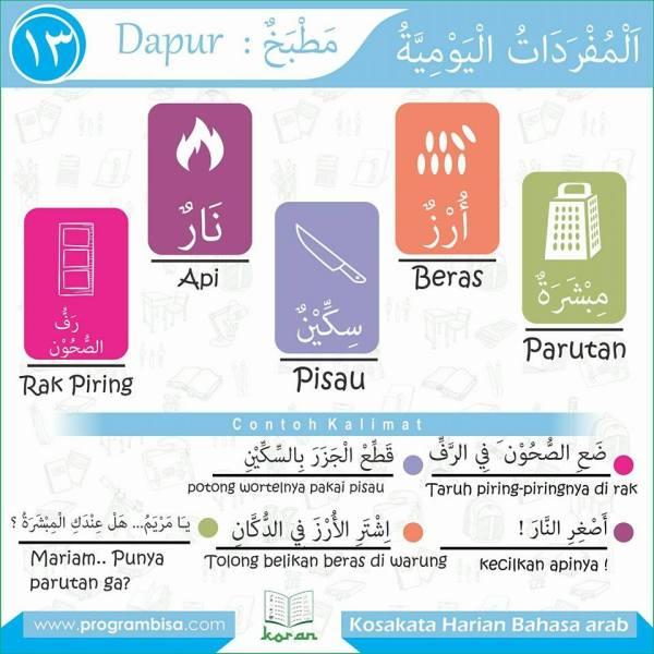 kosa kata harian bahasa arab13