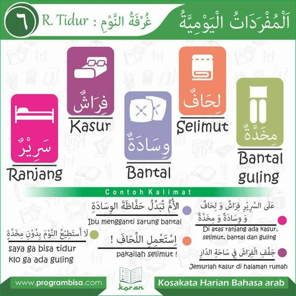 kosa kata harian bahasa arab6