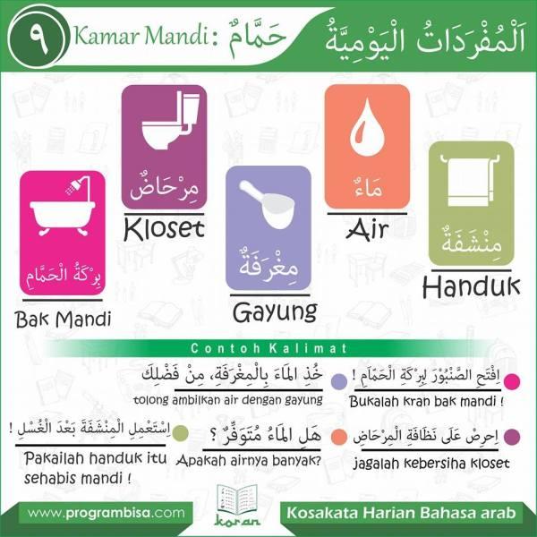 kosa kata harian bahasa arab9