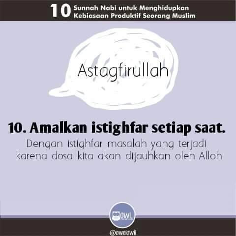 10 kebiasaan produktif seorang muslim 10