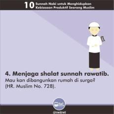 10 kebiasaan produktif seorang muslim 4