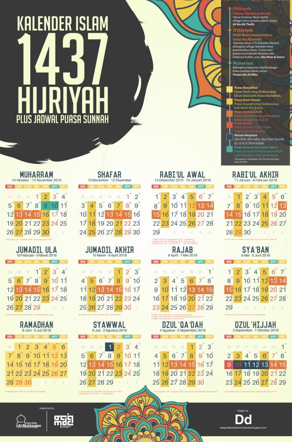 Kalender 1437 hijriyah Plus Shaum