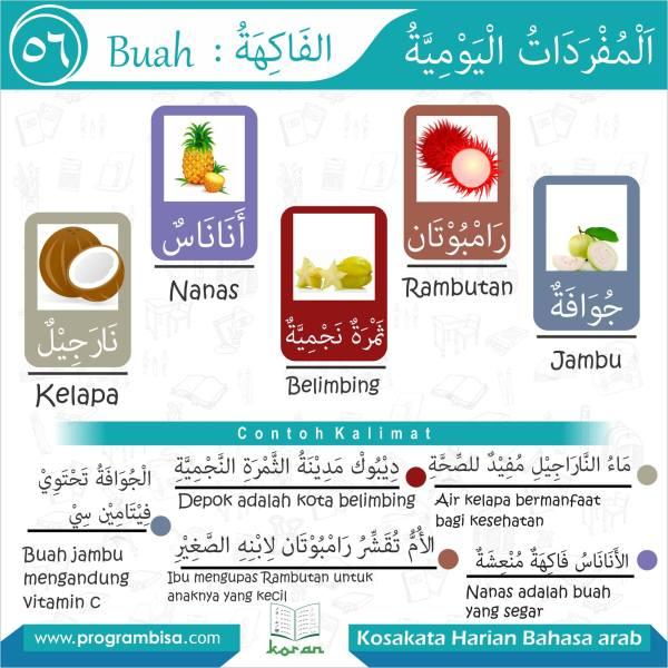 kosakata harian bahasa arab 56