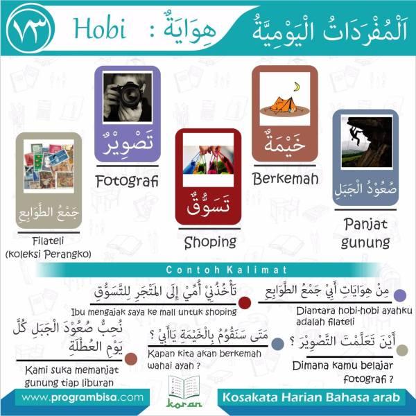 kosakata harian bahasa arab 73