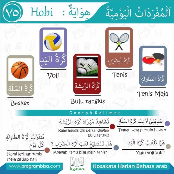 kosakata harian bahasa arab 75