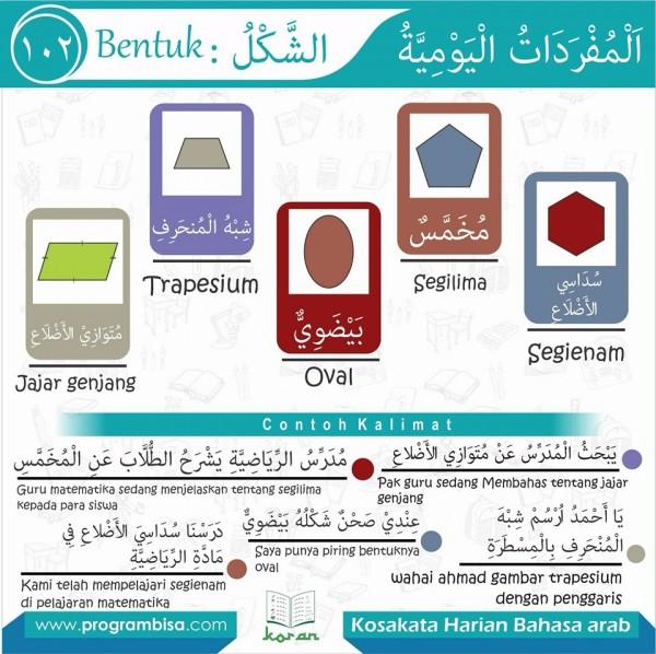 kosa kata harian bahasa arab 102