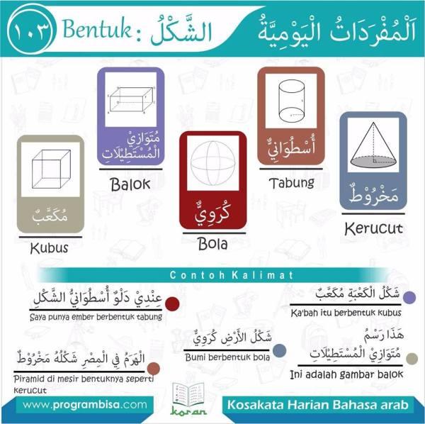 kosa kata harian bahasa arab 103
