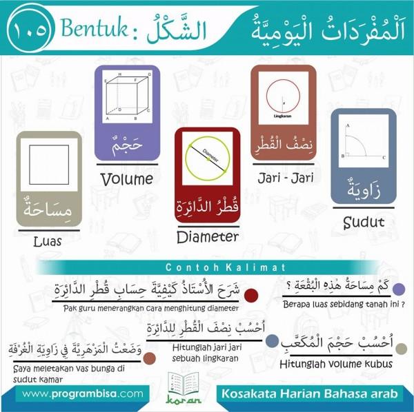 kosa kata harian bahasa arab 105