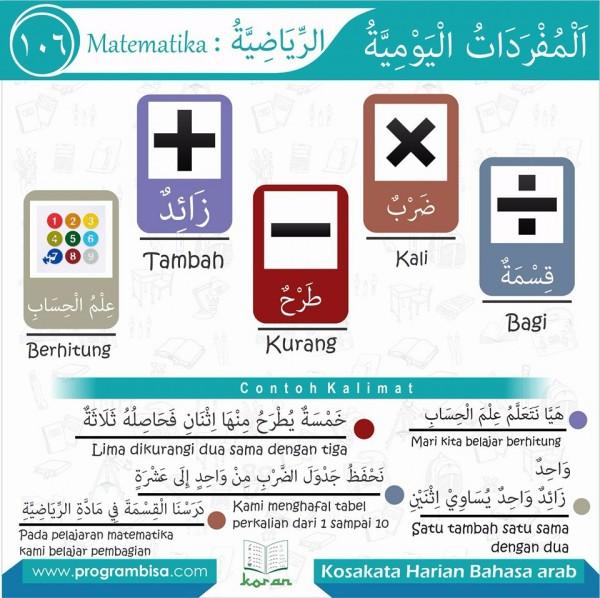 kosa kata harian bahasa arab 106