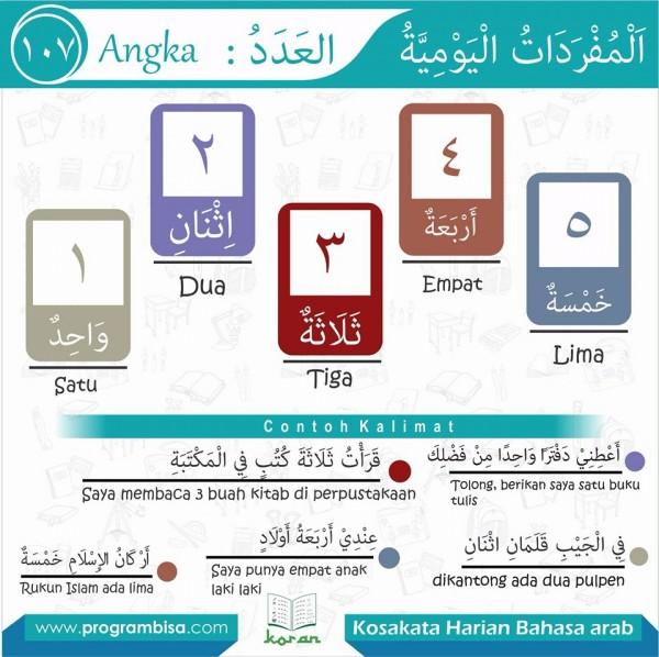 kosa kata harian bahasa arab 107