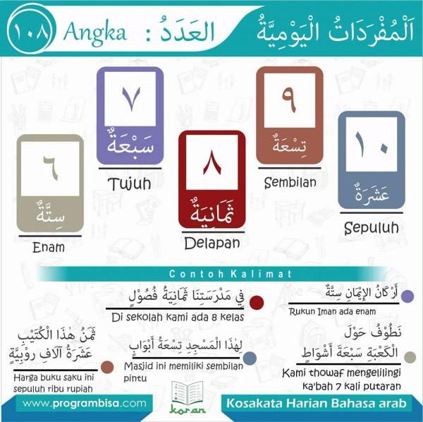 kosa kata harian bahasa arab 108