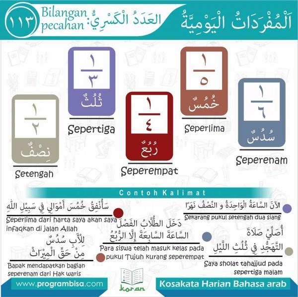 kosa kata harian bahasa arab 113