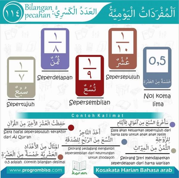 kosa kata harian bahasa arab 114
