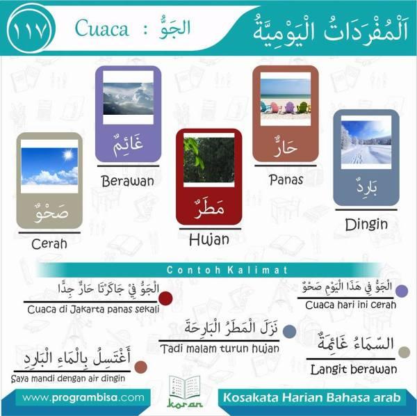 kosa kata harian bahasa arab 117