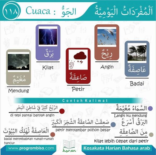 kosa kata harian bahasa arab 118