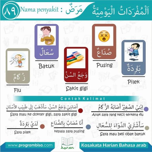 kosa kata harian bahasa arab 89