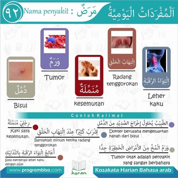 kosa kata harian bahasa arab 92