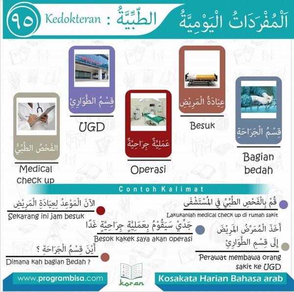 kosa kata harian bahasa arab 95