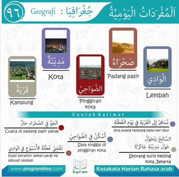 kosa kata harian bahasa arab 96