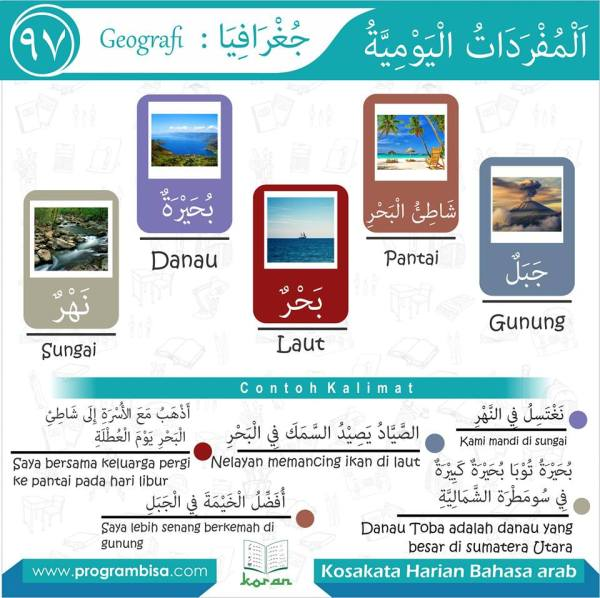 kosa kata harian bahasa arab 97