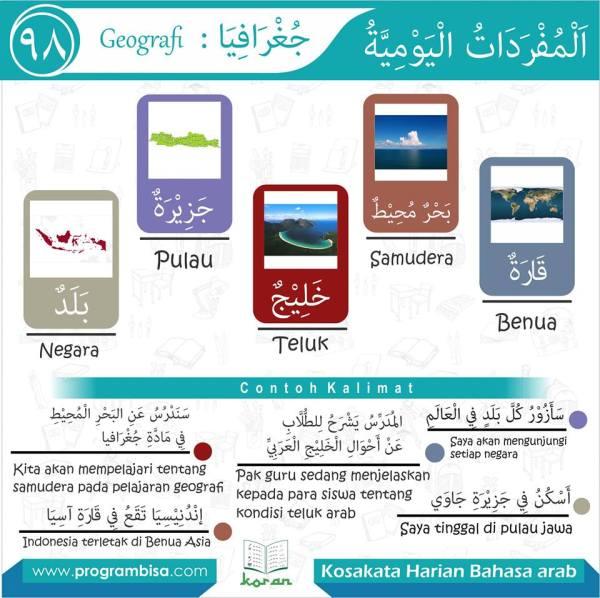 kosa kata harian bahasa arab 98