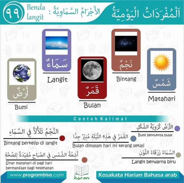 kosa kata harian bahasa arab 99