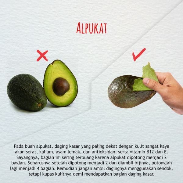 cara mengkonsumsi buah dan sayuran yang benar-alpukat