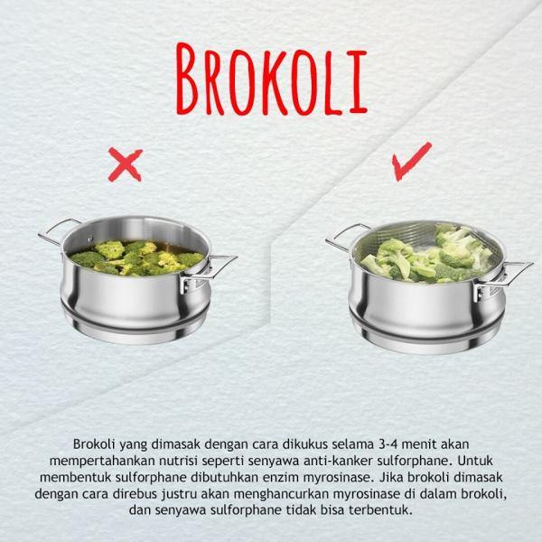 cara mengkonsumsi buah dan sayuran yang benar-brokoli