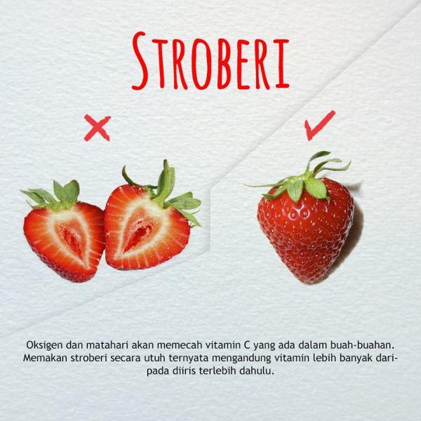 cara mengkonsumsi buah dan sayuran yang benar-strawberi