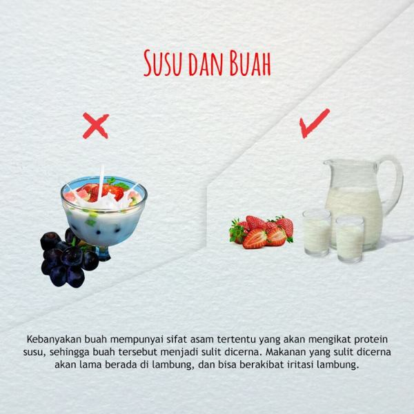 cara mengkonsumsi buah dan sayuran yang benar-susu
