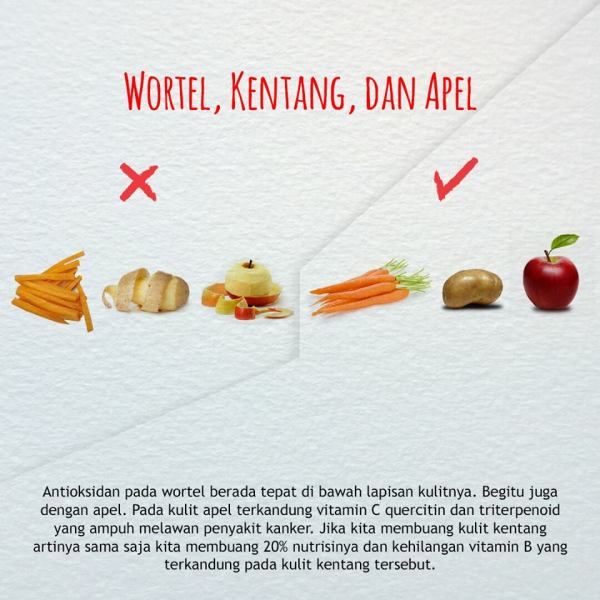 cara mengkonsumsi buah dan sayuran yang benar-wortel kentang apel