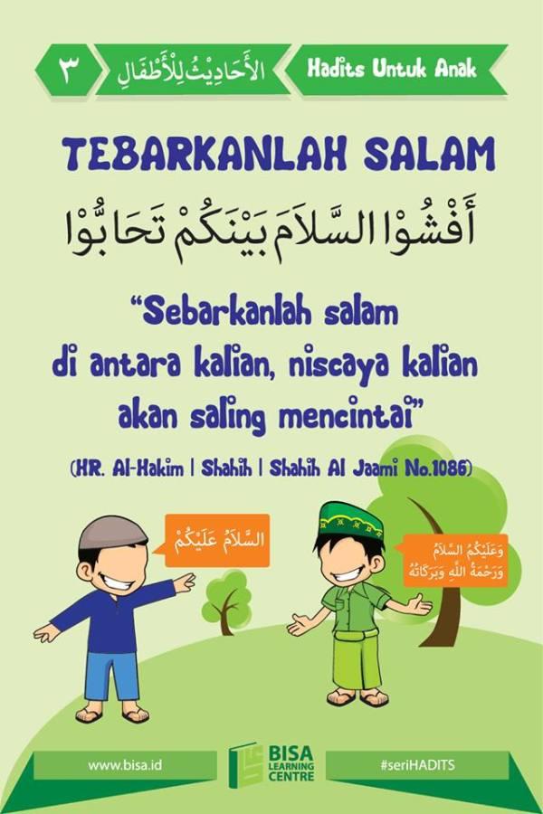 hadits untuk anak 3 tebarkanlah salam