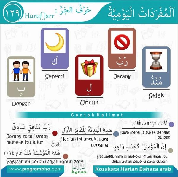 kosa kata bahasa arab 129