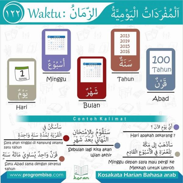kosa kata harian bahasa arab 122