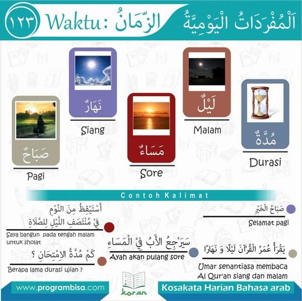 kosa kata harian bahasa arab 123