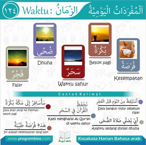 kosa kata harian bahasa arab 124
