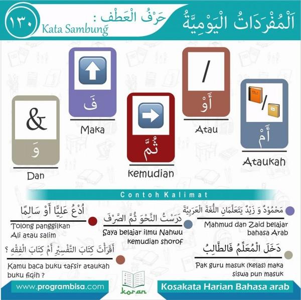 kosa kata harian bahasa arab 130