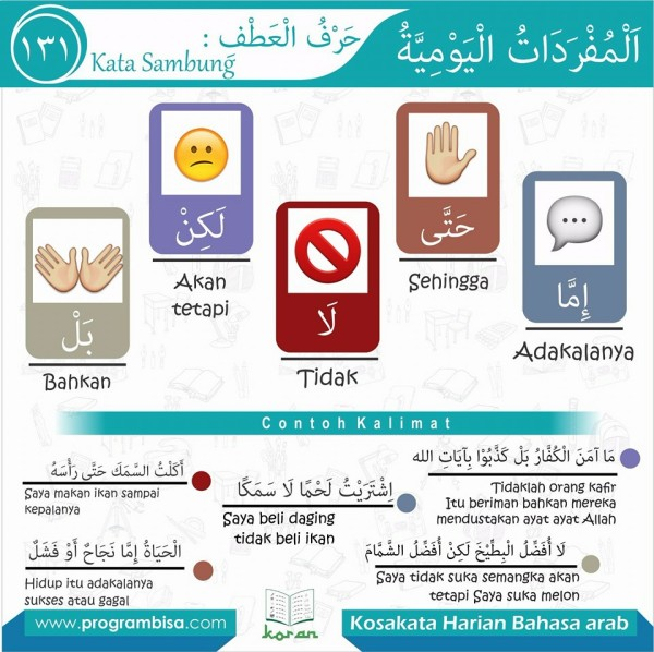 kosa kata harian bahasa arab 131
