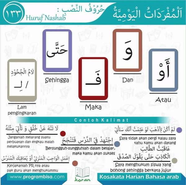 kosa kata harian bahasa arab 133