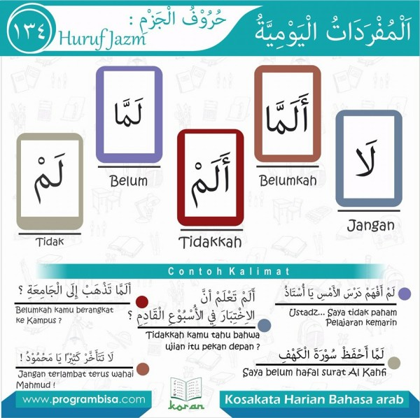 kosa kata harian bahasa arab 134