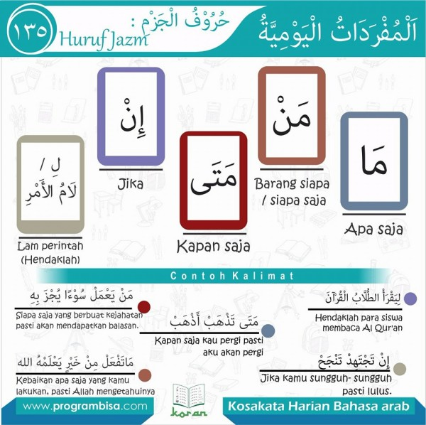 kosa kata harian bahasa arab 135