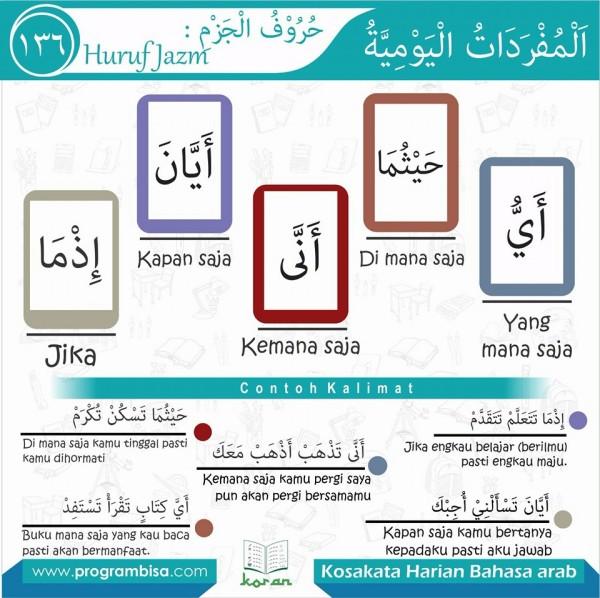 kosa kata harian bahasa arab 136