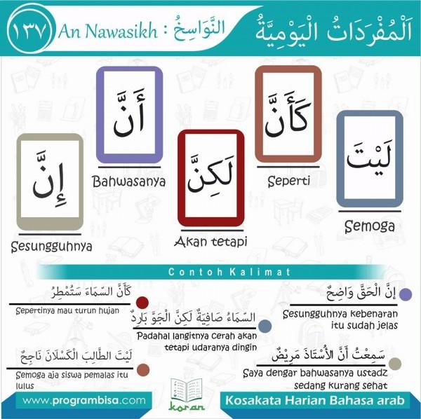 kosa kata harian bahasa arab 137